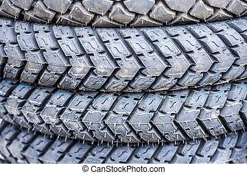 pneus, motorcycles.