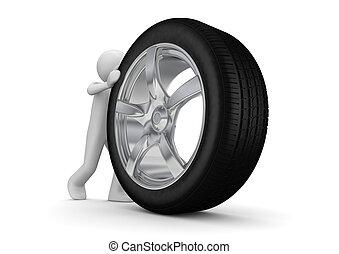 pneus, ton, changement, temps