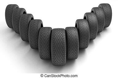 pneus, voiture