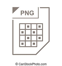 PNG file icon, cartoon style