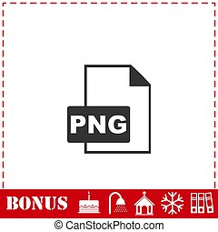 PNG file icon flat