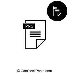 png icon  - white vector icon