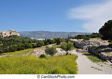 pnyx monument - ATHENS, GREECE - APRIL 20, 2014: Pnyx...