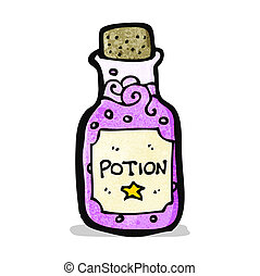 poção, magia, caricatura
