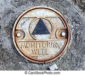 poço, monitorando, ambiental