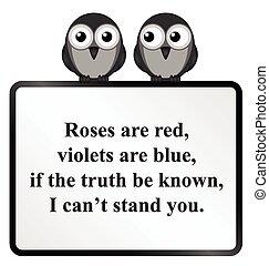 poème, vous, ne pas pouvoir, stand