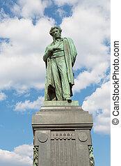 poète, moscou, célèbre, pushkin, monument, russe, alexandre...