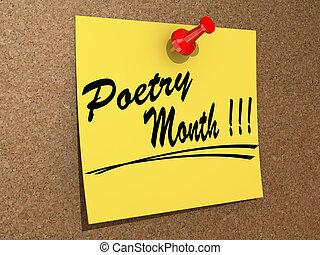 poésie, mois