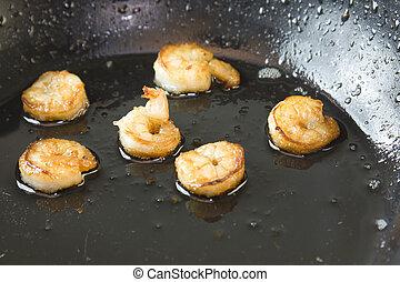 Po lon crevette frite cooking chinois sommet for Cuisinier wok
