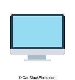 počítač, osamocený, vektor, grafické pozadí, neposkvrněný, vystavit