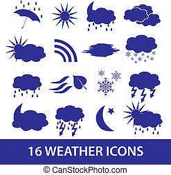 počasí, ikona, dát, eps10