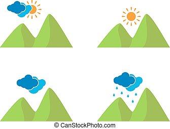 počasí, ikona