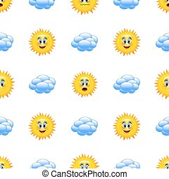 počasí, karikatura, icons.