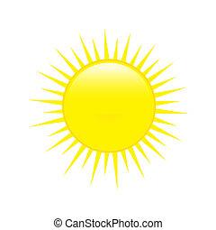 počasí, sun., lesklý, předpověď, ikona
