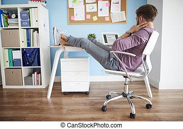 położenie, praca, biuro, wygodny