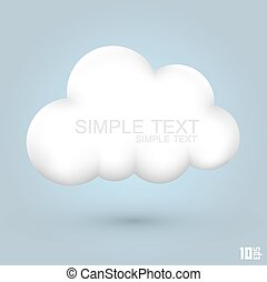 połyskujący, chmura, ikona