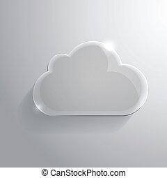 połyskujący, chmura