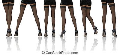 pończochy, sexy, nogi