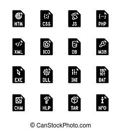 pořadač, litera, ikona, -, websites, a, aplikace