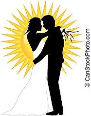 poślubna para