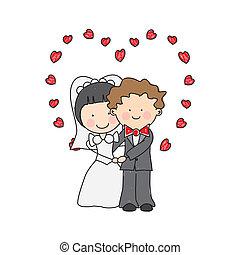 poślubne zaproszenie, karta
