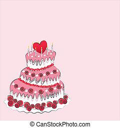 poślubny placek, dzień, valentine