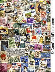poštovné, mezinárodní, poštovní známky