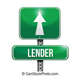 pożyczający, projektować, droga, ilustracja, znak