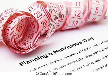 pożywny, planowanie, dzień