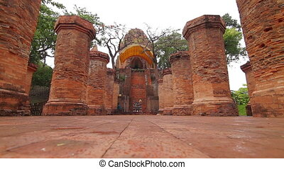 Po Nagar towers in Nha Trang, Vietnam. Po Nagar is a Cham temple tower founded sometime before 781.