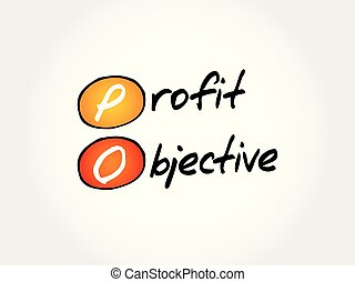 PO - Profit Objective acronym, business concept background