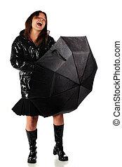 po, przedimek określony przed rzeczownikami, deszcz