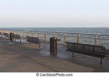 pobřeží, lavice