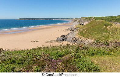 Pobbles beach The Gower Peninsula