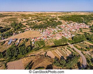 Pobladura de aliste small village aerial view