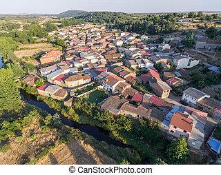 Pobladura de aliste village aerial view