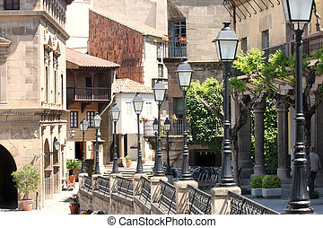 poble, espanyol, スペイン語, 村, 中に, バルセロナ, スペイン