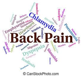 pobre, dolor, medios, espalda, salud, aflicción
