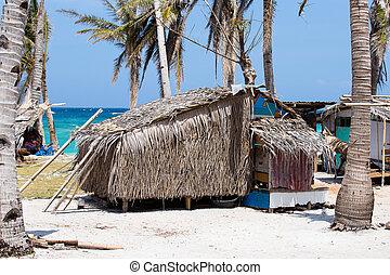 pobre, malapascua, área, isla, filipinas, mar