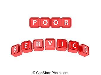 pobre, servicio