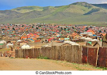 pobre, ulaanbaatar, outskirts, mongolia, lares