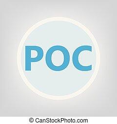 POC (Proof of concept) acronym- vector illustration