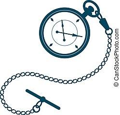 poche, chain., montre
