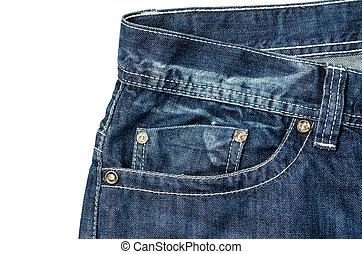 poche, jean, closeup