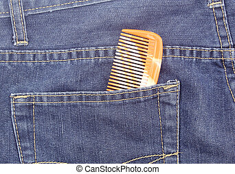 poche, jean, peigne
