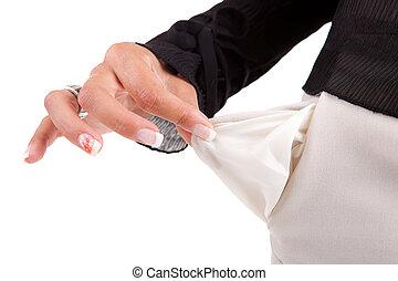 poche, tenue femme, vide