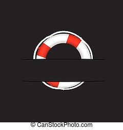 poche, vecteur, sauveteur, illustration
