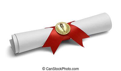 pochodnia, medal, dyplom