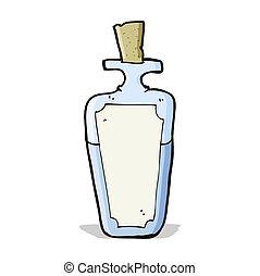 poción, caricatura, botella