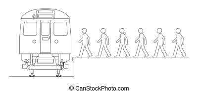 pociąg, żeby pracować